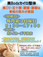 ◆開催◆カイロプラクティック施術スペシャルサービス!<11月予定>の画像